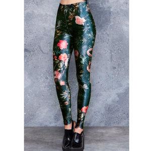 BLACKMILK Garden of the Dead velvet leggings